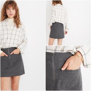 Madewell Heather Gray Fireside Mini Skirt Size 22